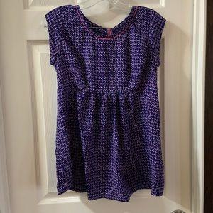 Motherhood Maternity Purple/Pink Print Blouse S